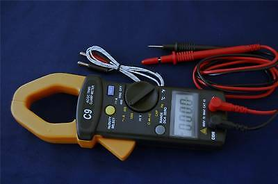True Rms Ac Dc Clamp-on Meter Ammeter Dmm Capacitor Tester K Thermocouple Hvacr