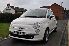 FIAT 500 1.2 LOUNGE 3DR PETROL (1 OWNER FROM NEW)