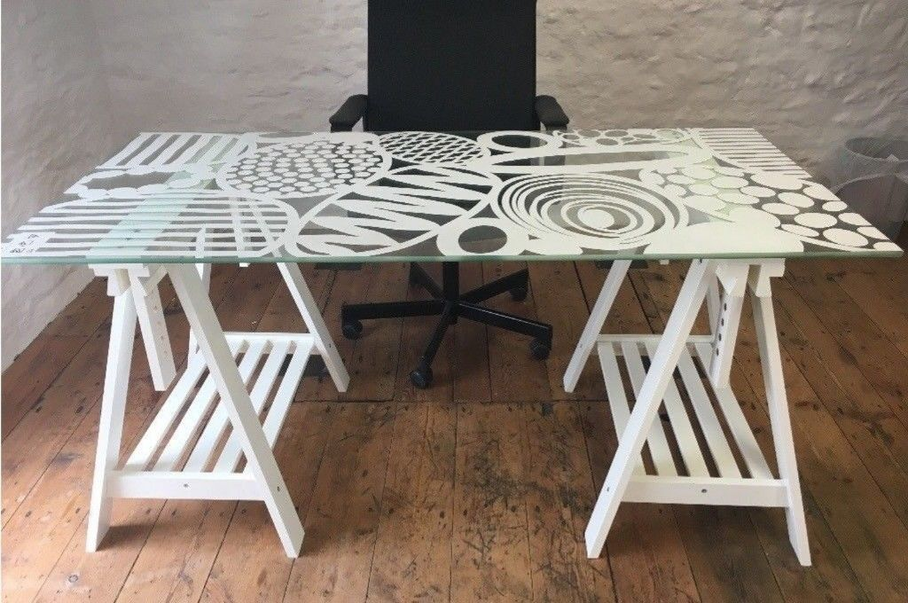 Ikea Glasholm Glass Table 60 New Central London Bargain In