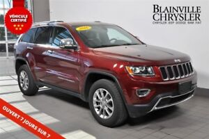 2016 Jeep Grand Cherokee LIMITED - CUIR - PARKSENSE - V6
