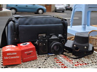 vintage retro zenit 11 slr camera and accessories