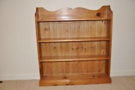 Vintage Solid Pine 3ft Book Case