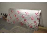 Celotex Insulation 25mm thickness: 3 sheets of 2.4m by 1.2m