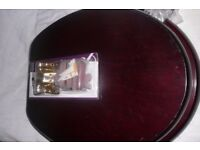 MAHOGANY TOILET SEAT WITH NEW BRASS FITTTINGS
