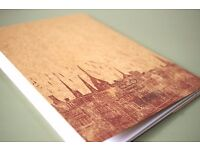 Sketchbook (Edinburgh terra di siena skyline)