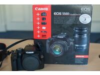 Canon 550d Dslr (With box)