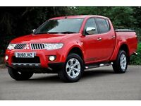 2010 Mitsubishi L200 2.5 DI-D CR Warrior LB Double Cab+FREE WARRANTY+JUST SERVICED+BLACK LEATHER