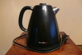 Breville Aurora Black Cordless Electric Jug Kettle 3KW Quick Boil VKJ783