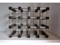 Wine Rack -- Dark wood and metal