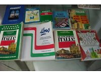 SELECTION OF 9 ITALIAN LANGUAGE BOOKS ALL IN GOOD CONDITION