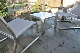 Stylish Patio Furniture, table and two chairs
