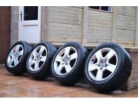 """16"""" Audi Alloys Wheels & Tyres 205/55/16 5x112 VW Golf Caddy T4 Passat # 8E0601025B #"""