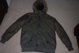 Mens Pull & Bear Hooded Jacket size Large