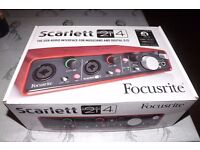 Focusrite Scarlett 2i4 Interface BRAND NEW UNUSED RRP £179