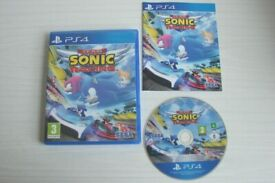 PS4 Team Sonic Racing game in mint condition