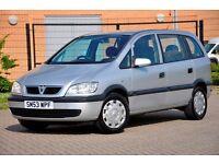 2003 Vauxhall Zafira 1.6 i 16v Club 5dr+SERVICE HISTORY+LONG MOT+READY TO DRIVE AWAY