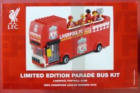 New Unopened Liverpool FC Champs League Lego Bus Kit. 1 of Only 500 Made.
