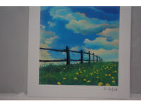 DAVID NAJAR - FENCE LINE, Print. Complete with 'Certificate of Authenticity'