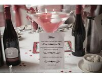 Wedding table decoration glasses x 5