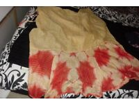 WRAP AROUND SARONG IN GOLD/RED BEAUTIFUL COLOURS
