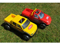 2 Large Tonka trucks / Cars 4x4 Great for outside / sandpit / beach