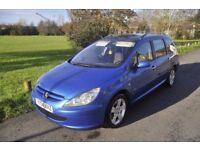 2004 PEUGEOT 307 SW 2.0HDI DIESEL 7 SEATER