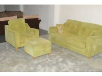 2 seater sofa bed and armchair & footstool | Free delivery