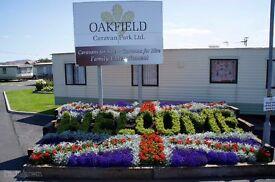 Cheap used static caravan. Oakfields caravan park in Towyn, North Wales.