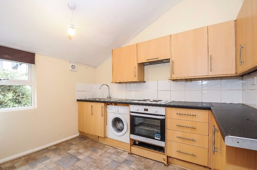 A spacious first floor flat offering one double bedroom, situated on Gilbey Road.