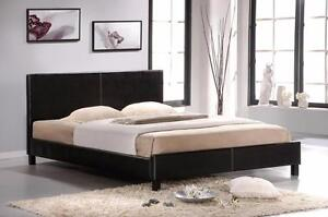 FREE Delivery in Ottawa! Faux Leather Platform Bed in White or Espresso! Brand New!