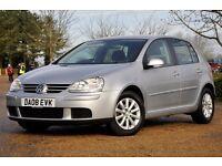 2008 Volkswagen Golf 1.9 TDI DPF Match 5dr+DIESEL+FULL SERVICE HISTORY+1 FORMER KEEPER+LONG MOT