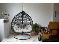 Modern Indoor-Outdoor Double Egg swing Hanging Chair - MyEggChair