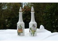 Cruet set of oil and vinegar by Port Merion