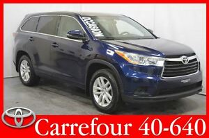 2015 Toyota Highlander LE V6 AWD 8 Passagers Bluetooth+Camera de