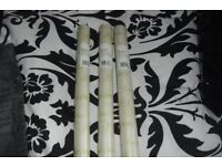 NEW 3 ROLLS OF CHRISTMAS PAPER ALL SAME DESIGN CREAM GOLD WRITING ON
