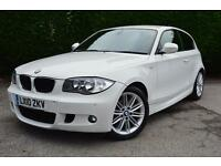 BMW 1 SERIES 116D M SPORT (white) 2010