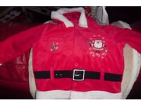 AGE 12/18 MONTHS LITTLE HOODED SANTA JACKET REALLY CUTE