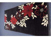 Rapollo rug 75x 150 Black/red/cream