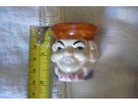 Egg cup Toby Characture . Nice little novelty BARGAIN £ 2
