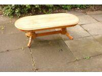 large light oak coffee table