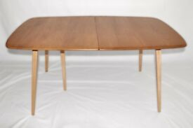 Vintage Retro 60's Ercol Windsor Extending Extendable Plank Table - As New - Renovated