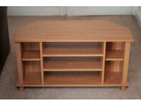 Wooden Corner TV Table, good condition
