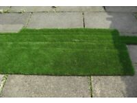 Fake Grass Turf Lawn artificial CUT OFF ENDS TO MAKE ONE PIECE, garden patio grave