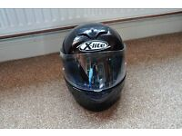 Black X-lite X-601 Motorbike Helmet. Extra small. Hardly worn.