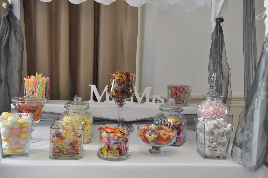 11 Glass Jarsvases For Candy Cart Sweet Table In Gloucester