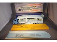 Early Diecast Bedford Pullmore Car Transporter & Ramp Vintage Meccano Dinky Supertoys 982 & 794 VGUC