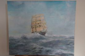 *** Beautiful Ship Oil Painting on Board painted by Alwyn Griffiths***