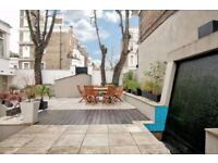 Cathcart Road SW10. Exceptionally spacious three double bedroom garden flat.