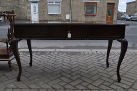 stunning ornate mahogany large console table