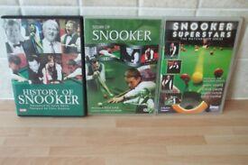 3 SNOOKER DVDS